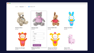 Splitting up variants on collection pages – front page – Catalog