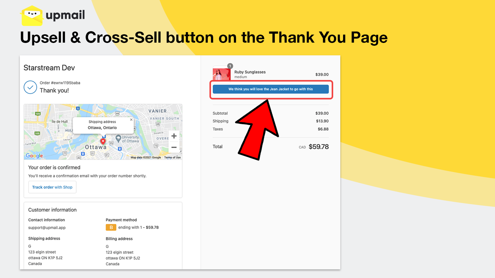 Upsell & Cross-Sell Button on the Thank You Page