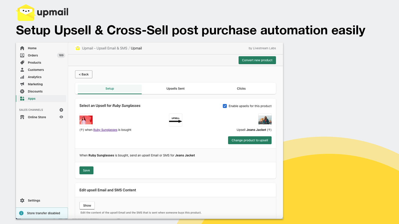 Setup Upsell & Cross-Sell post purchase automation easily