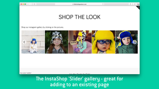 InstaShop's 'Slider' layout - great for adding to an existing pa