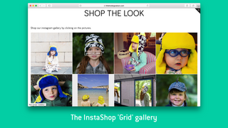 InstaShop's 'Grid' gallery layout.