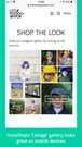 InstaShop's Collage gallery view on mobile looks amazing