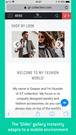 InstaShop's slider view adapts itself for mobile devices and is