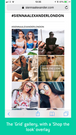 InstaShop's Grid gallery view on mobile offers an amazing way fo