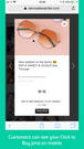 Customers can tap through to the Carousel view on their mobile p