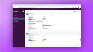 Get important business notifications delivered to Slack