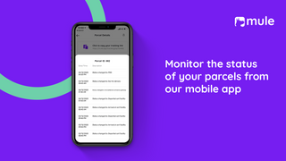 Monitor the status of your parcels from our mobile app