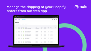 Manage the shipping of your orders from our web app