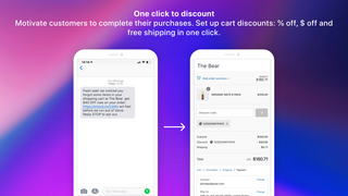 SMS Bear Recover abandoned carts with automated SMS drip