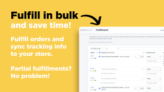 Fulfill your Shopify orders in bulk. Auto-syncs tracking info.