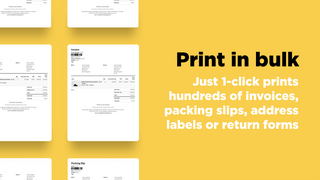Print invoices, packing slips, address labels and picking lists