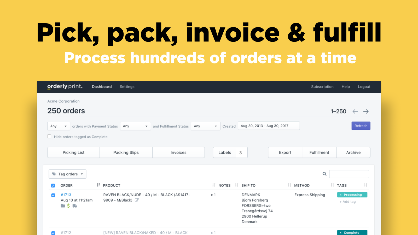 Filter: Pick, pack, invoice & fulfill your Shopify orders faster