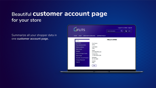 Shopify customer account page