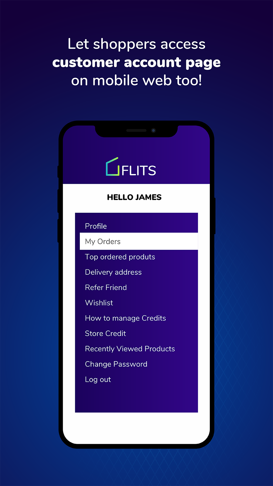 Let Shoppers access customer account page on mobile web too.