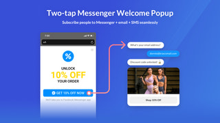 3X Your Messenger + email, and SMS Opt-ins with Two-Taps