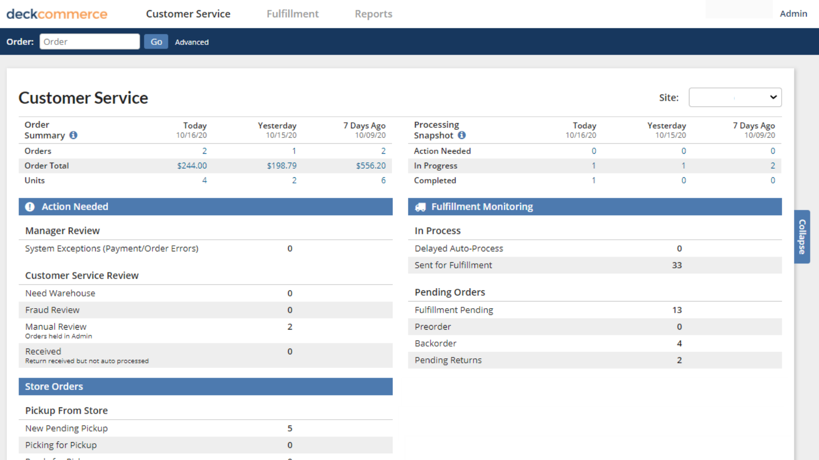 Stay organized with an overview of orders from all channels.