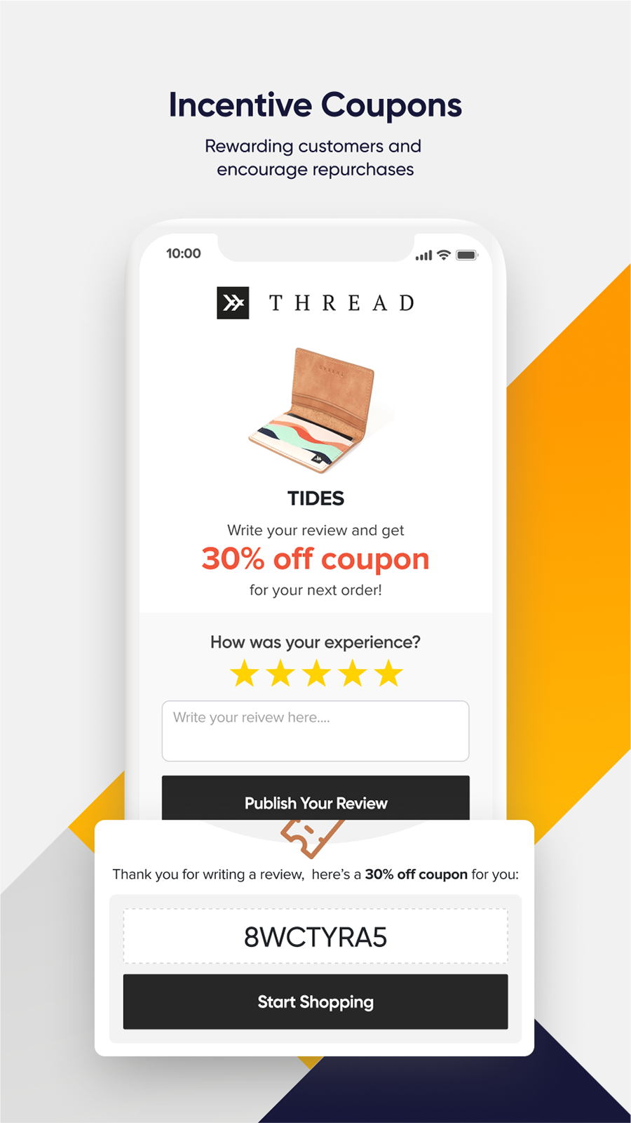 Incentive Customer Reviews with Coupons