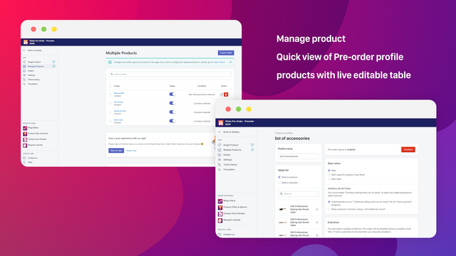 Automatically enable pre-order for multiple products