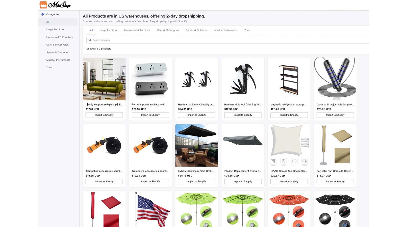 Choose from thousands products to reseller