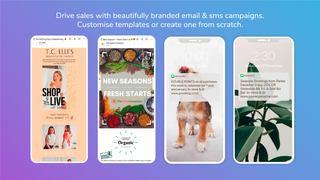 Phone screens showing a variety of marketing campaigns