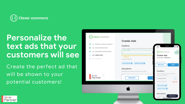 Personalize the ads that will be shown to your customers