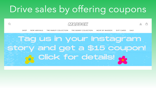 Drive sales by offering coupons
