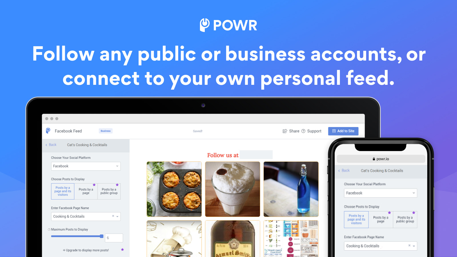 Follow any public or business account.