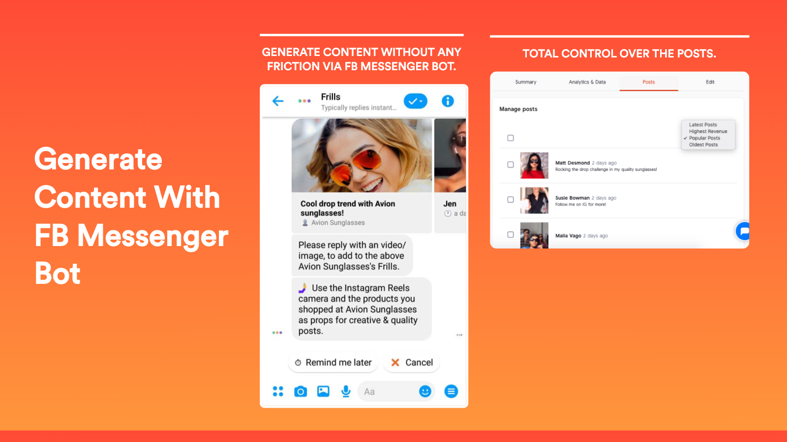Super charge your campaigns with content from customer via FB