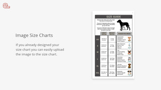 Size chart shopify app, size guide, size