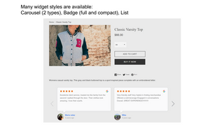 shopify google reviews list widget