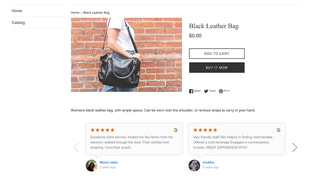 shopify google reviews carousel widget