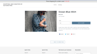 Autoketing - Free shipping bar on the online store 1