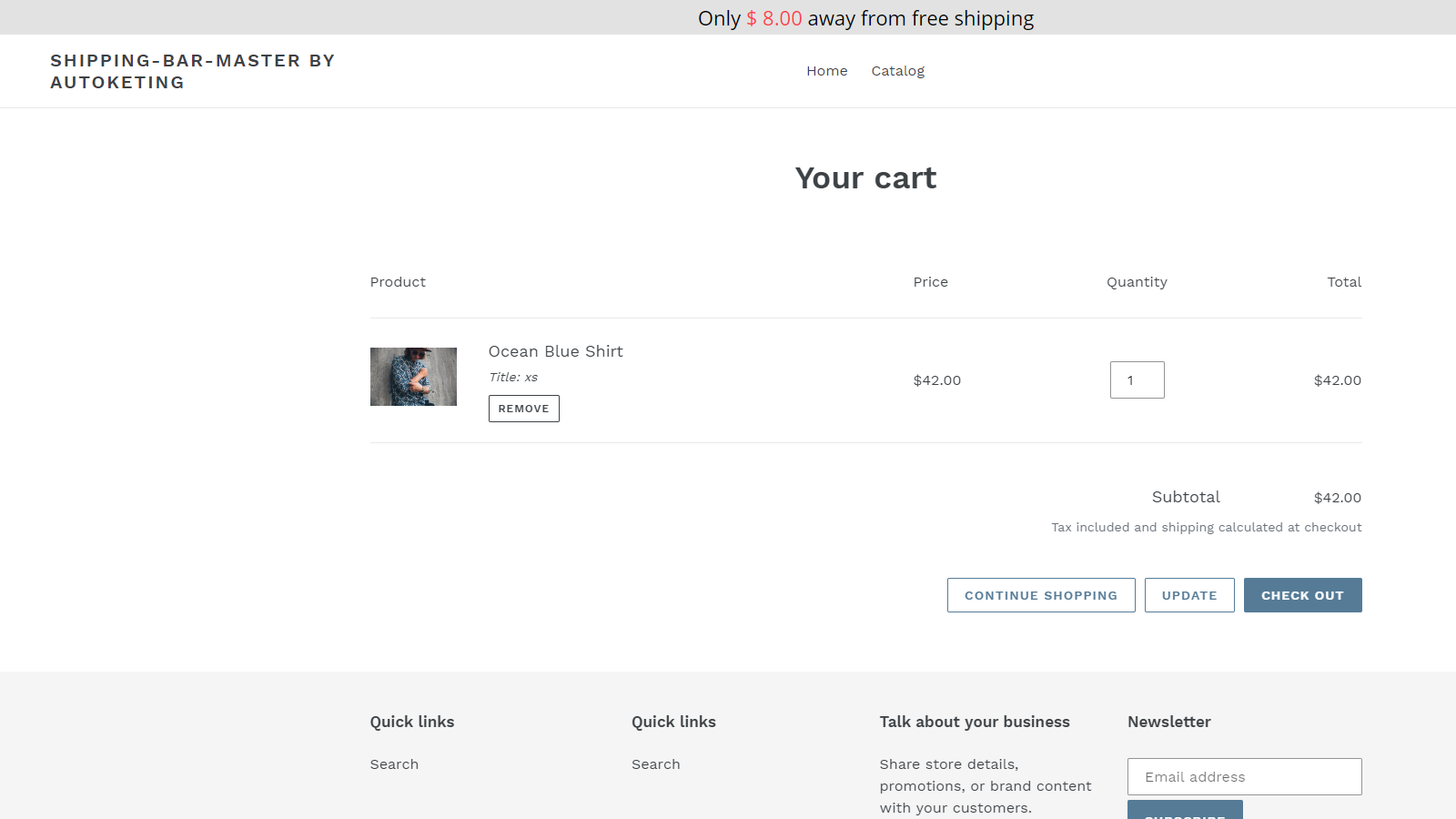 Autoketing - Free shipping bar on the online store 2