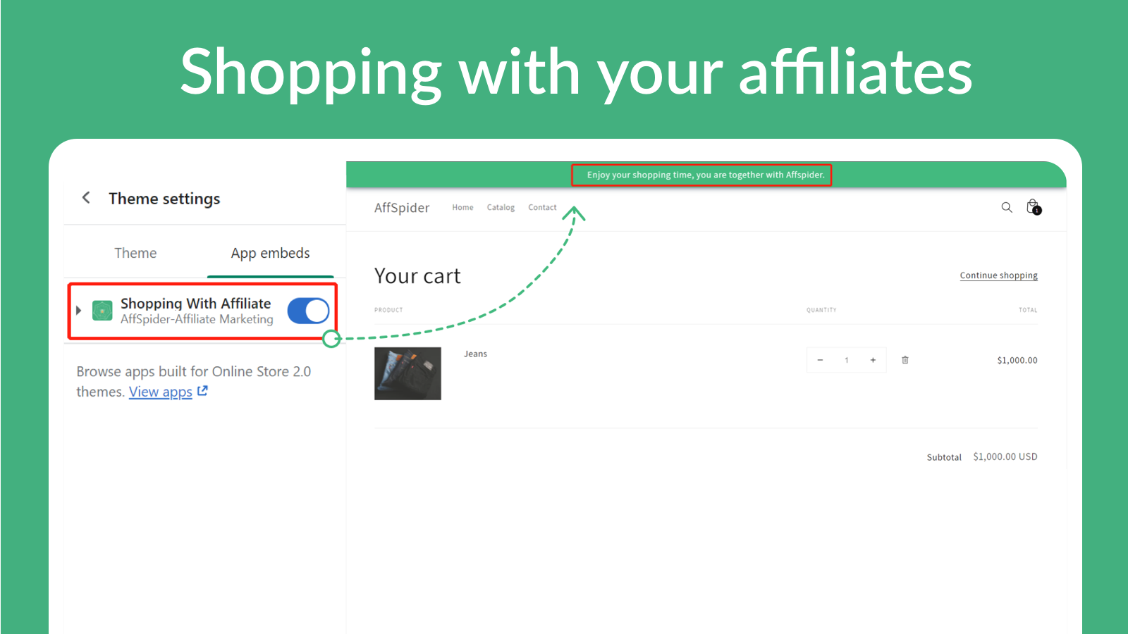 Shopping with your affiliates