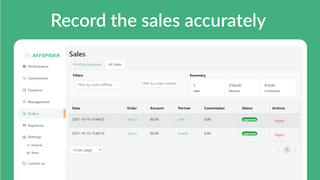 Record the sales accurately