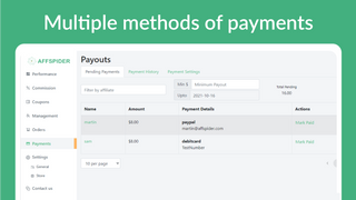 Multiple methods of payments