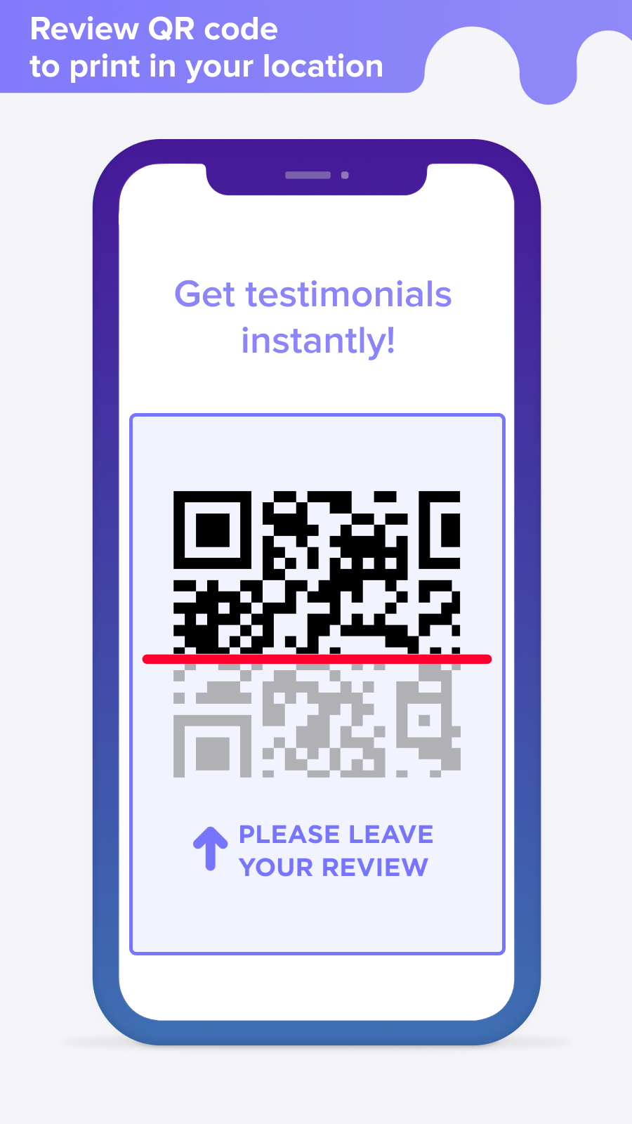 Adaptive mobile view QR code