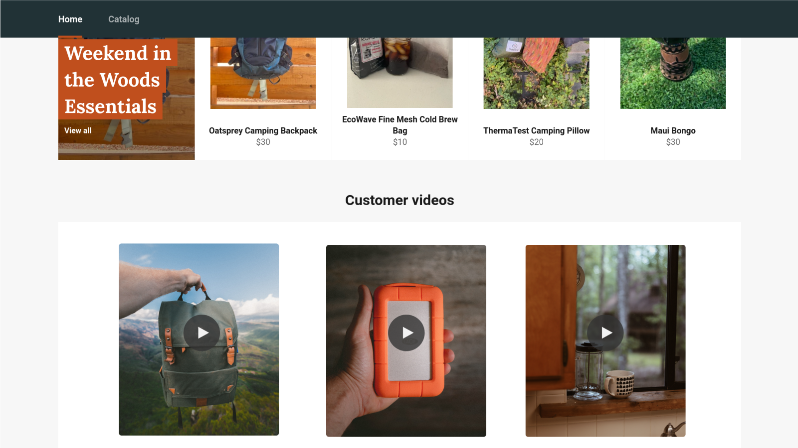 Show off your best content with our storefront widget