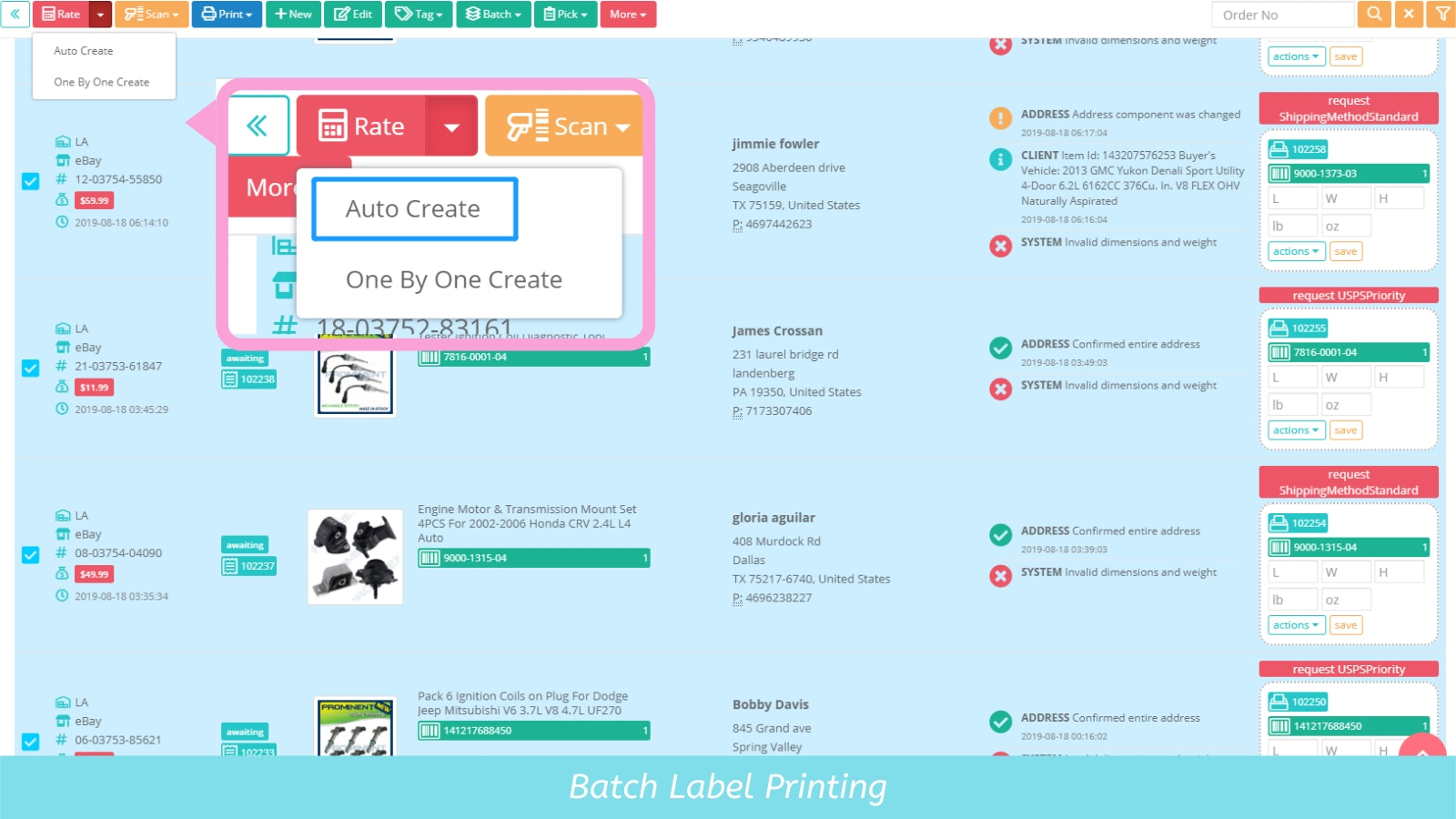ShipSaving shipping software with discounted shipping labels