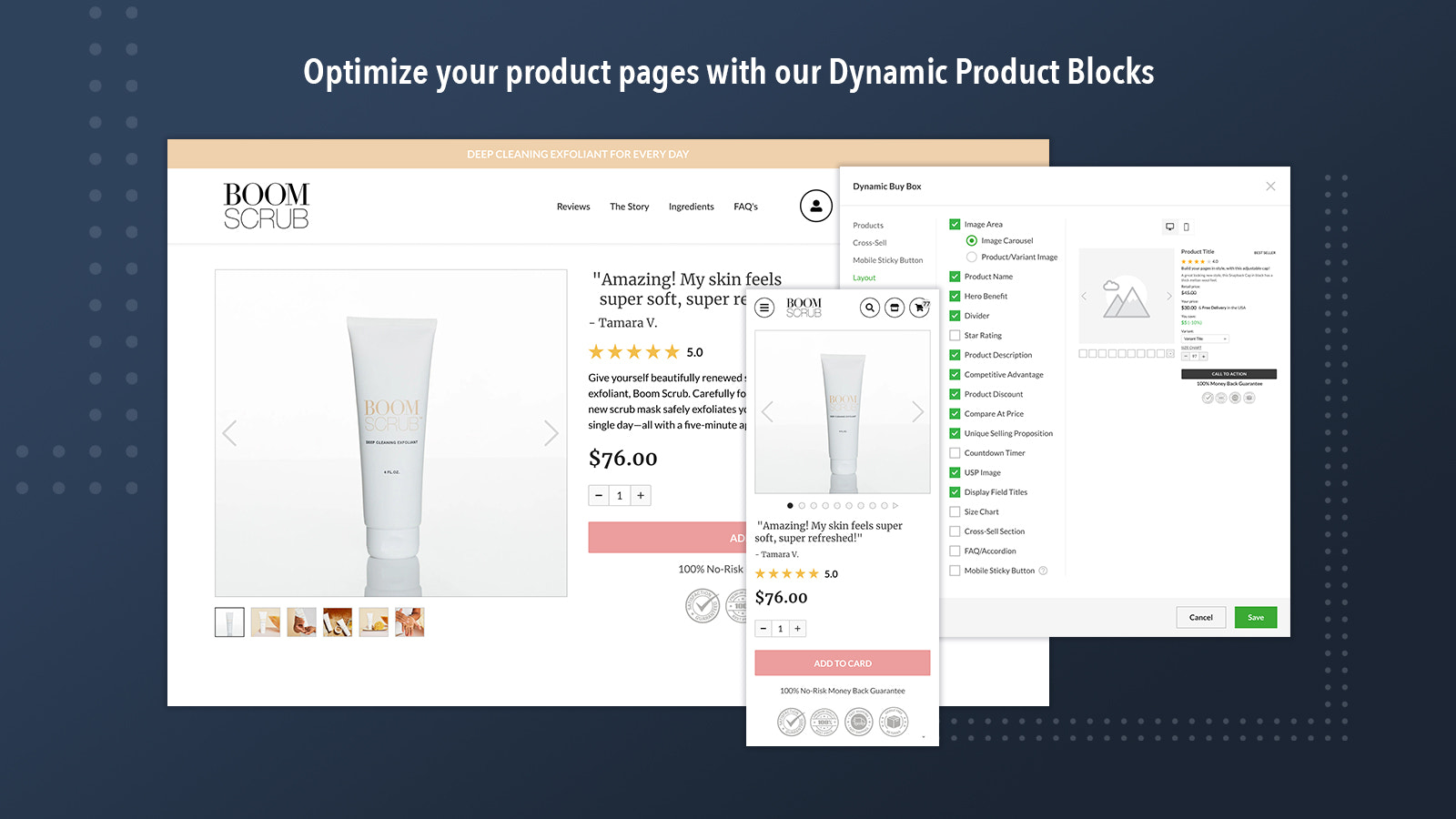 Optimize your product pages with our Dynamic Product Blocks