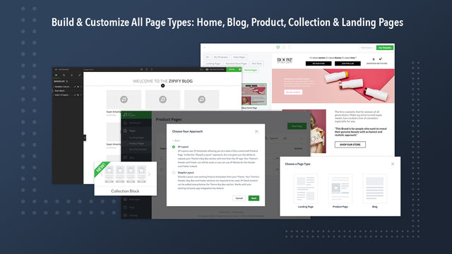 Build & Customize All Page: Home, Product, Collections, etc