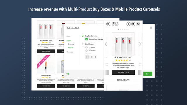 Increase revenue w/Multi-Product Buy Boxes & Other Features