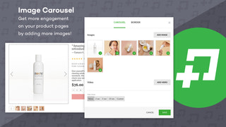 Use image carousels to show increase engagement