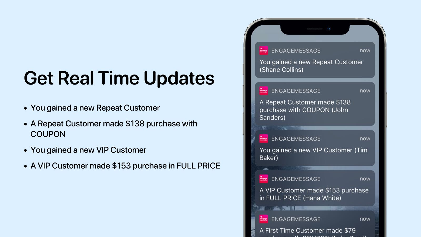 Get real time customer insight updates on your phone