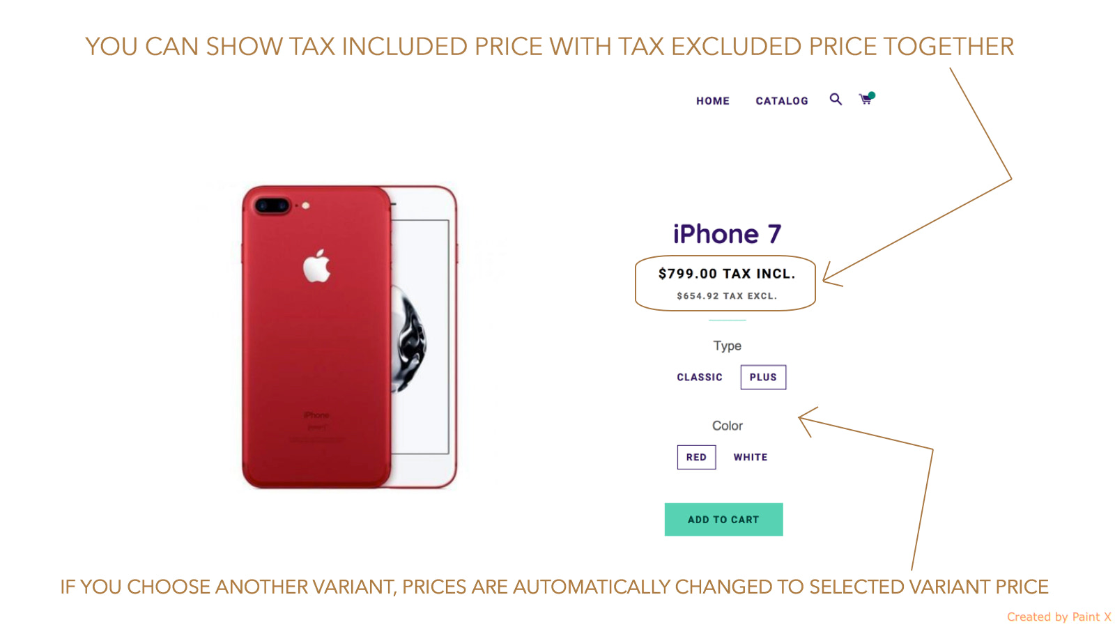 Vat included and Vat excluded price in product detail