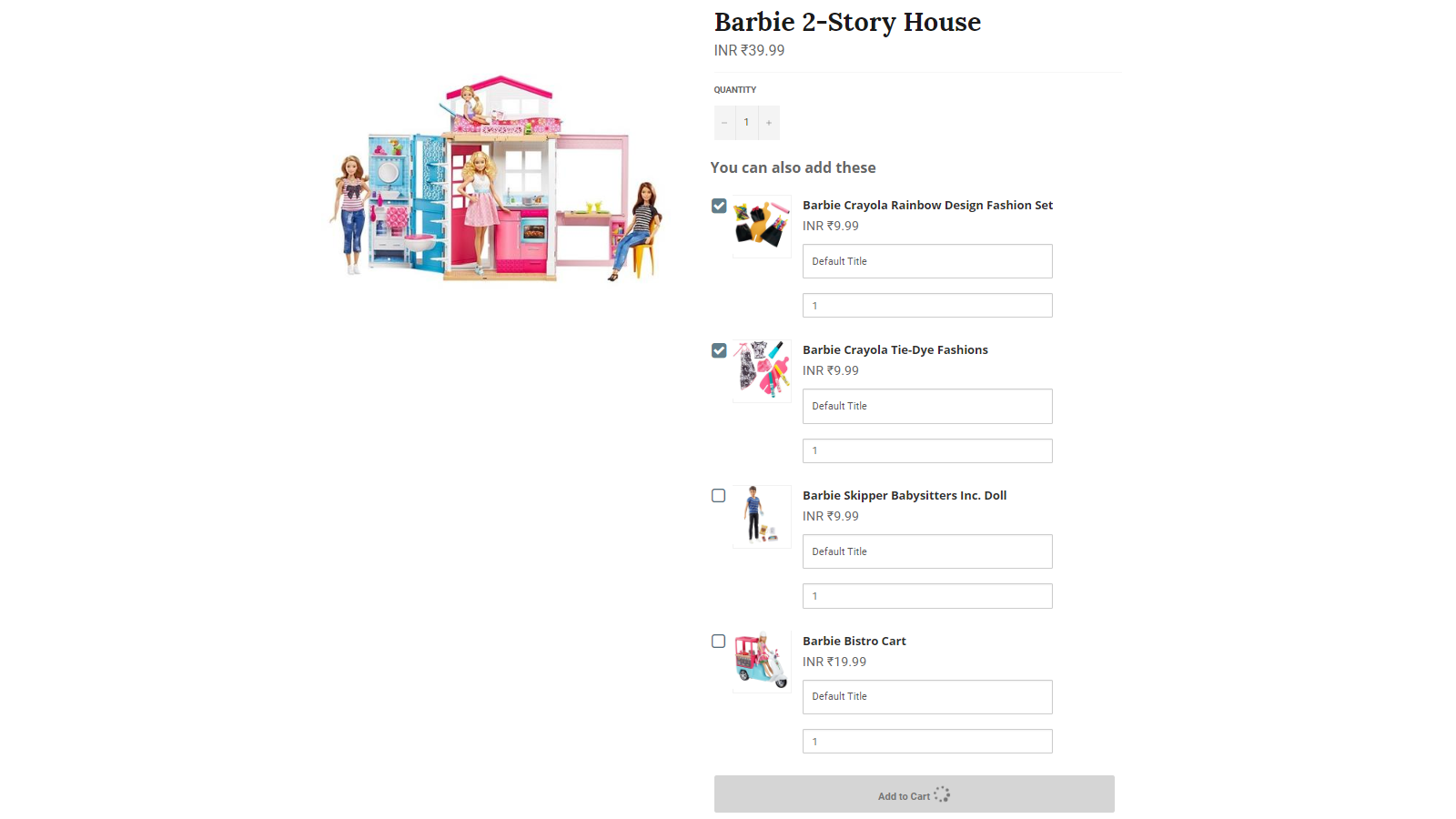 Display Addons / Accessories on Product Pages