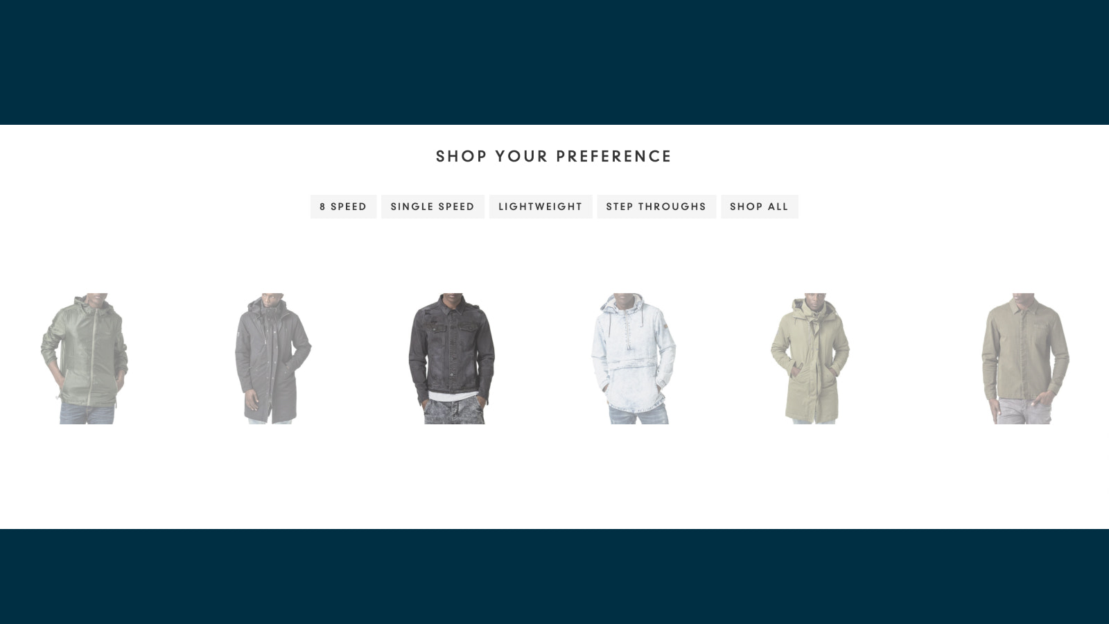 Shopify sliding products