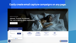 Easily create email capture campaigns on any page.