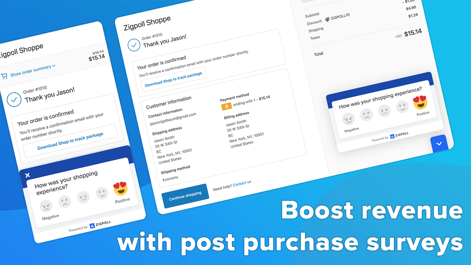 Boost revenue with post purchase surveys.