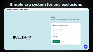 Use tags to exclude any items from price changes
